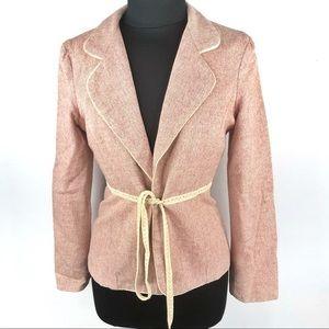 Jill Michelle Vintage Tweed Open Blazer Size 10